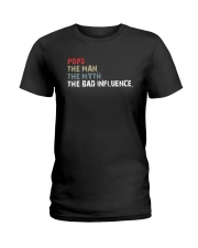 POPS THE BAD INFLUENCE Ladies T-Shirt thumbnail