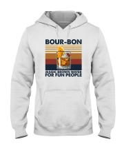 BOURBON MAGIC BROWN WATER FOR FUN PEOPLE Hooded Sweatshirt thumbnail