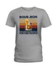 BOURBON MAGIC BROWN WATER FOR FUN PEOPLE Ladies T-Shirt thumbnail