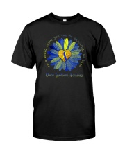 BE KIND DOWN SYNDROME AWARENESS Classic T-Shirt front