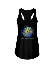 BE KIND DOWN SYNDROME AWARENESS Ladies Flowy Tank thumbnail
