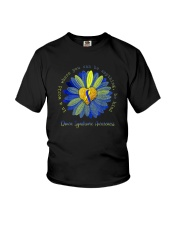 BE KIND DOWN SYNDROME AWARENESS Youth T-Shirt thumbnail
