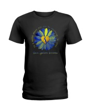 BE KIND DOWN SYNDROME AWARENESS Ladies T-Shirt thumbnail