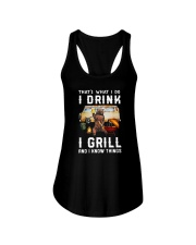 THAT'S WHAT I DO I DRINK I GRILL Ladies Flowy Tank thumbnail