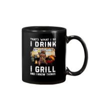 THAT'S WHAT I DO I DRINK I GRILL Mug thumbnail