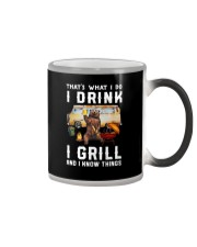 THAT'S WHAT I DO I DRINK I GRILL Color Changing Mug thumbnail