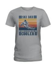 SKI DAD LIKE REGULAR DAD ONLY COOLER Ladies T-Shirt thumbnail