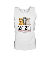 2020 THE YEAR WHEN SHIT GOT REAL THREE CATS Unisex Tank thumbnail