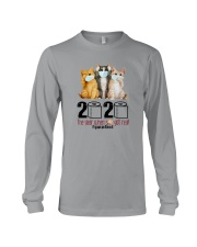 2020 THE YEAR WHEN SHIT GOT REAL THREE CATS Long Sleeve Tee thumbnail