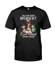 ON A DARK DESERT HIGHWAY CATS Classic T-Shirt front