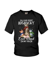 ON A DARK DESERT HIGHWAY CATS Youth T-Shirt thumbnail