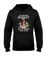 ON A DARK DESERT HIGHWAY CATS Hooded Sweatshirt thumbnail
