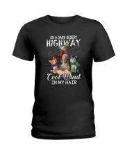 ON A DARK DESERT HIGHWAY CATS Ladies T-Shirt thumbnail