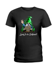 LUCKY TO BE DIFFEERENT Ladies T-Shirt thumbnail