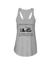 I DRINK COFFEE AND I KNOW THINGS OTTER Ladies Flowy Tank thumbnail