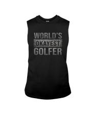 WORLD'S OKAYEST GOLFER Sleeveless Tee thumbnail