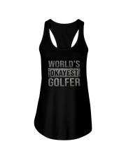 WORLD'S OKAYEST GOLFER Ladies Flowy Tank thumbnail