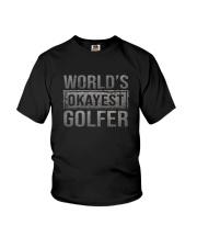 WORLD'S OKAYEST GOLFER Youth T-Shirt thumbnail