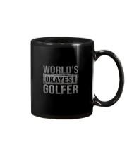 WORLD'S OKAYEST GOLFER Mug thumbnail