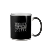 WORLD'S OKAYEST GOLFER Color Changing Mug thumbnail