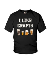 I LIKE CRAFTS BEER Youth T-Shirt thumbnail
