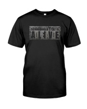 Funny Humor Joke Kitty Science Dead Alive Classic T-Shirt front
