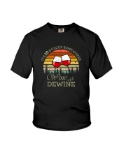 IT'S 2 O'CLOCK SOMEWHERE WINE WITH DEWINE Youth T-Shirt thumbnail