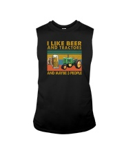 I LIKE BEER AND TRACTORS AND MAYBE 3 PEOPLE Sleeveless Tee thumbnail