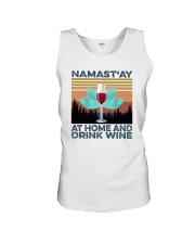 NAMAST'AY AT HOME AND DRINK WINE aaa Unisex Tank thumbnail