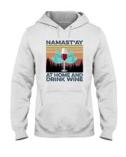 NAMAST'AY AT HOME AND DRINK WINE aaa Hooded Sweatshirt thumbnail