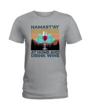 NAMAST'AY AT HOME AND DRINK WINE aaa Ladies T-Shirt thumbnail