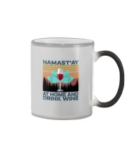NAMAST'AY AT HOME AND DRINK WINE aaa Color Changing Mug thumbnail
