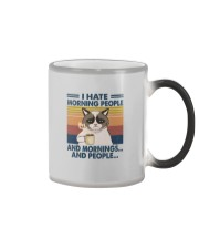 I HATE MORNING PEOPLE AND MORNING AND PEOPLE Color Changing Mug thumbnail