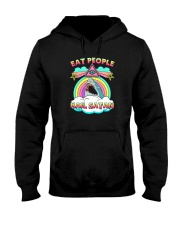 EAT PEOPLE HAIL SATAN Hooded Sweatshirt thumbnail