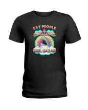 EAT PEOPLE HAIL SATAN Ladies T-Shirt thumbnail
