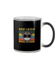 PET CATS HAIL SATAN Color Changing Mug thumbnail