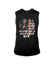 IT IS EASIER TO BUILD STRONG CHILDREN Sleeveless Tee thumbnail
