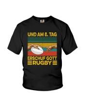 UND AM 8 TAG ERSCHUF GOTT RUGBY Youth T-Shirt thumbnail