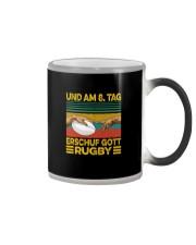 UND AM 8 TAG ERSCHUF GOTT RUGBY Color Changing Mug thumbnail