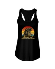 DADZILLA FATHER OF THE MONSTERS Ladies Flowy Tank thumbnail