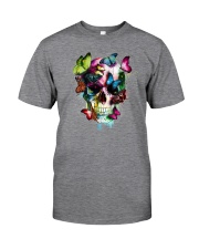 SKULL AND BUTTERFLIES Classic T-Shirt front