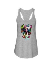 SKULL AND BUTTERFLIES Ladies Flowy Tank thumbnail
