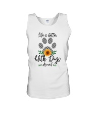 LIFE IS BETTER WITH DOGS AROUND Unisex Tank thumbnail