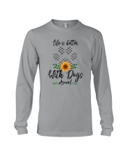 LIFE IS BETTER WITH DOGS AROUND Long Sleeve Tee thumbnail