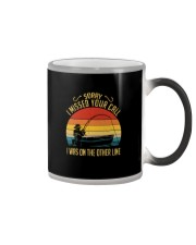 SORRY I MISSED YOUR CALL I WAS ON OTHER LINE Color Changing Mug tile