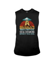 SOCIAL DISTANCING BEFORE IT WAS COOL UFO ALIEN Sleeveless Tee thumbnail