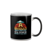 SOCIAL DISTANCING BEFORE IT WAS COOL UFO ALIEN Color Changing Mug thumbnail