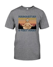 NAMAST'AY SIX FEET AWAY SLOTH YOGA Classic T-Shirt front