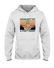 NAMAST'AY SIX FEET AWAY SLOTH YOGA Hooded Sweatshirt thumbnail