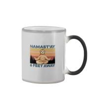 NAMAST'AY SIX FEET AWAY SLOTH YOGA Color Changing Mug thumbnail